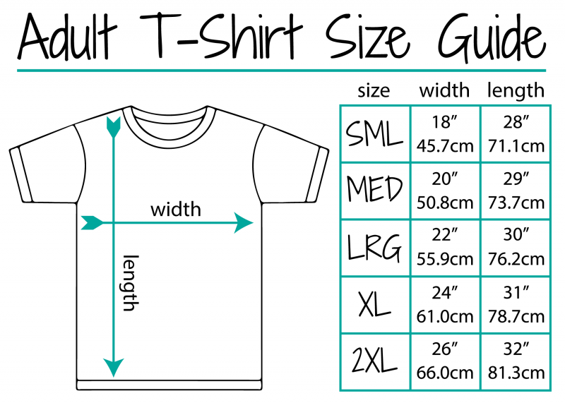 Adult T Shirt Size Guide-01