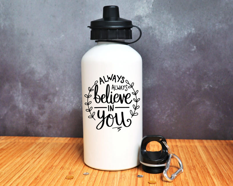 Always Always Believe In You Water Bottle Gifting Moon