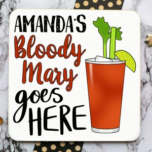 Bloody Mary Personalised Coaster Gifting Moon