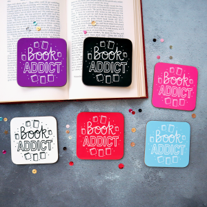 Book Addict Coasters Gifting Moon