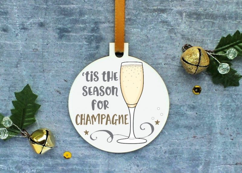 Champagne Ornament Mock Up
