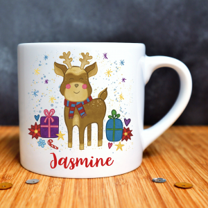 Christmas Reindeer Child's Mug Square