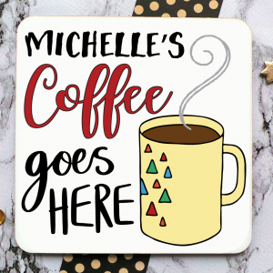 Coffee Personalised Coaster Gifting Moon