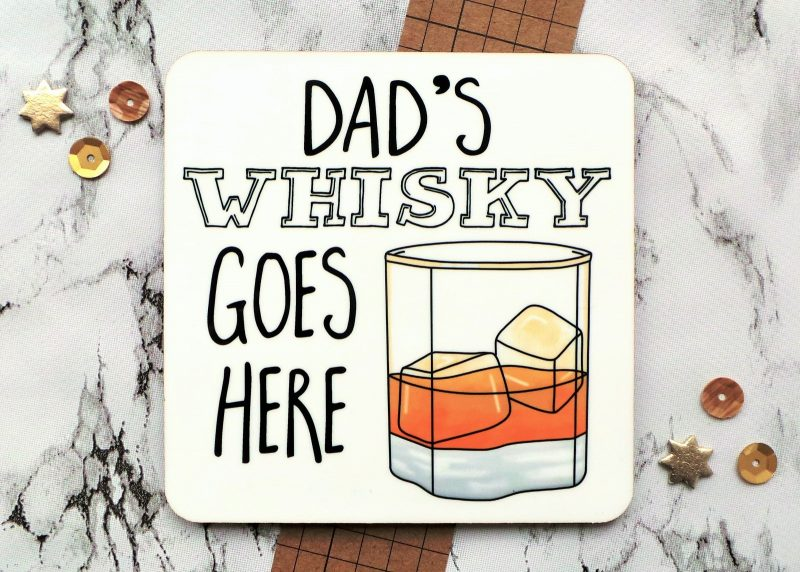Whisky Personalised Coaster Gifting Moon