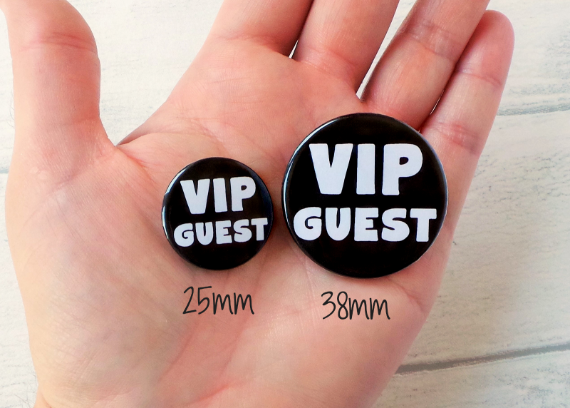 Funny Wedding Badges Size Difference