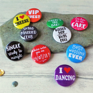 Funny Wedding Favour Badges Gifting Moon