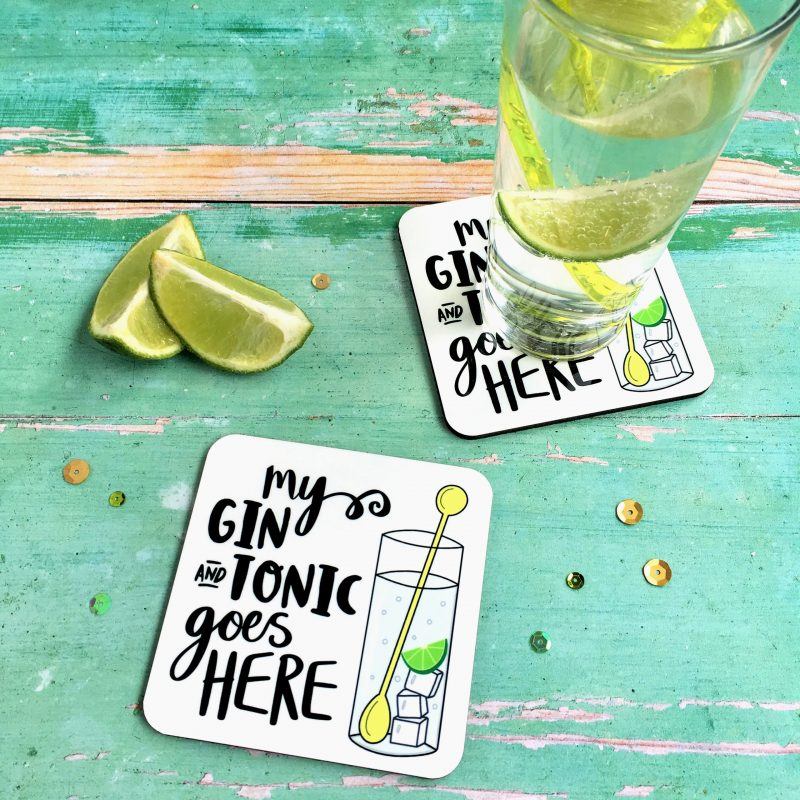 Gin And Tonic Coaster Gifting Moon