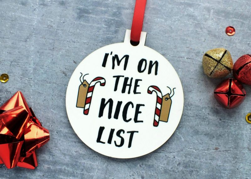 I'm On The Nice List Ornament at Gifting Moon 2