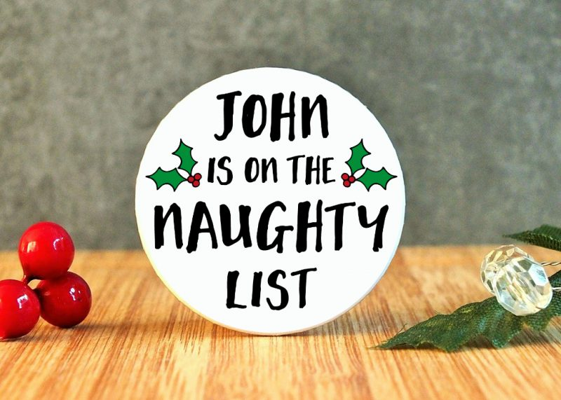 John Is On The Naughty List Badge at Gifting Moon