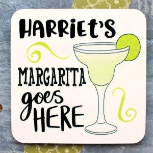 Margarita Personalised Coaster Gifting Moon