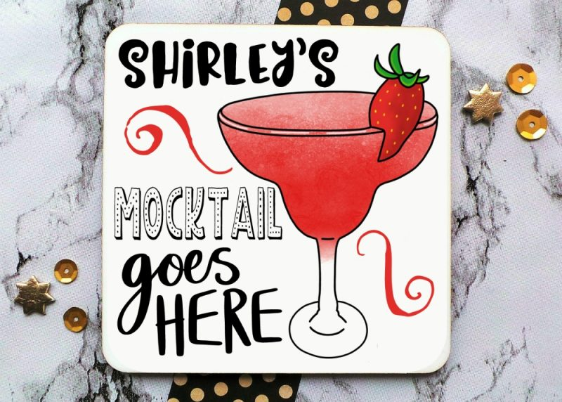 Mocktail Personalised Coaster Gifting Moon