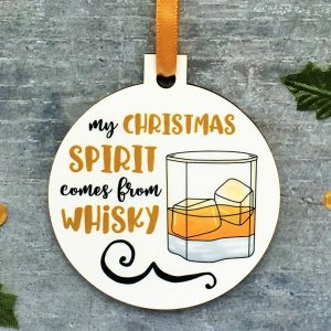My Christmas Spirit Comes from Whisky Ornament at Gifting Moon