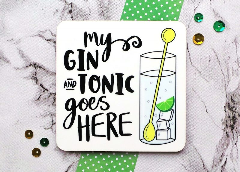 Gin And Tonic Coaster Gifting Moon 3