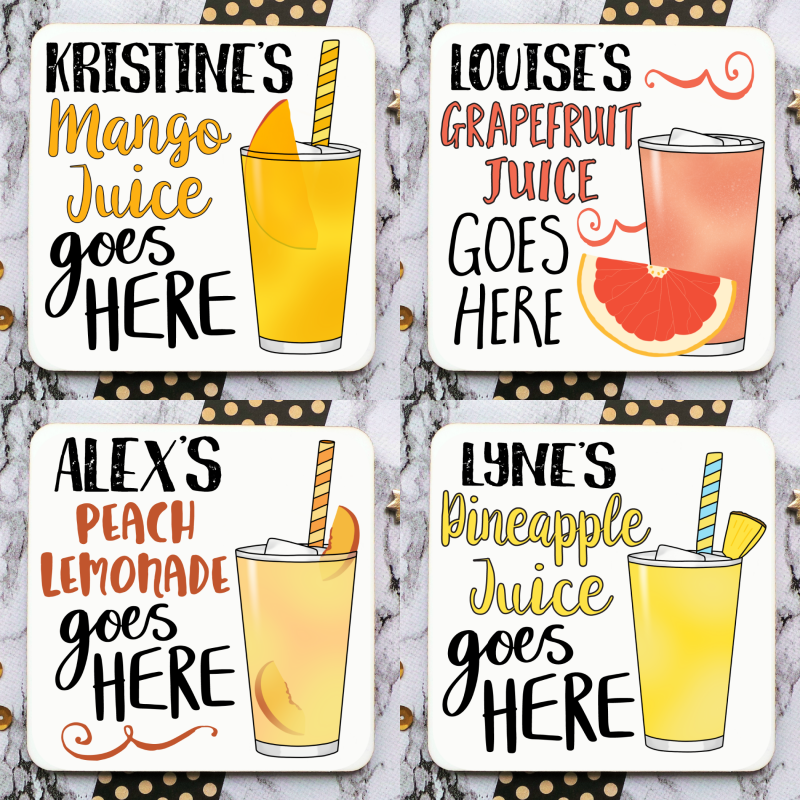 Non-Alcoholic Drink Coasters Square Image Gifting Moon-01