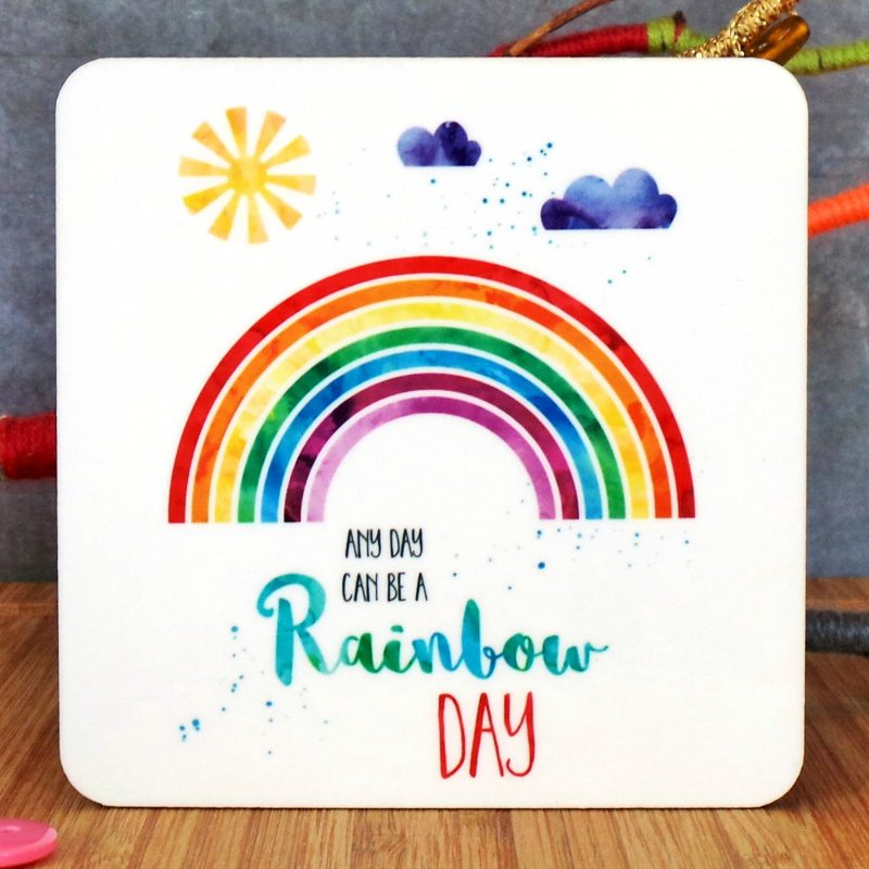 Rainbow Day Coaster at Gifting Moon