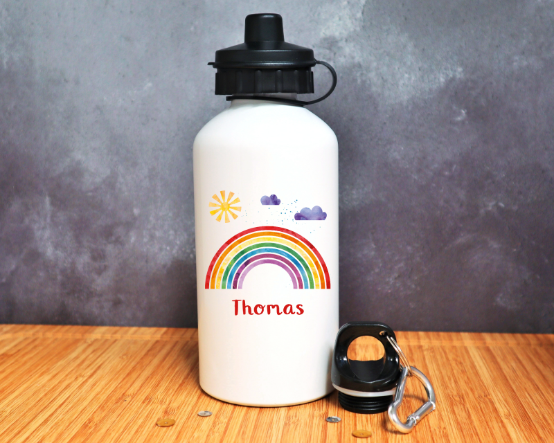 Rainbow Personalised Water Bottle Gifting Moon