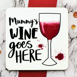 Red Wine Coaster Gifting Moon
