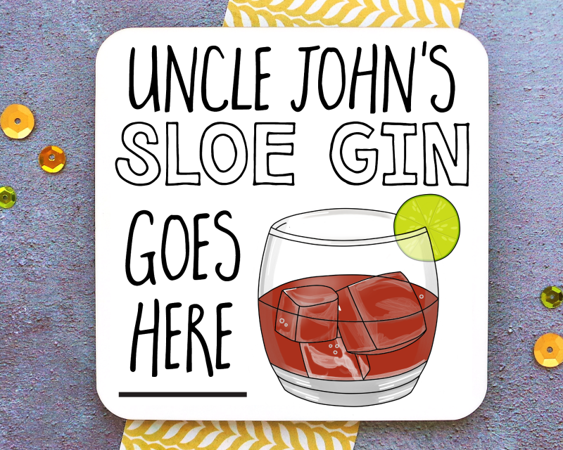 Sloe Gin Coaster Gifting Moon