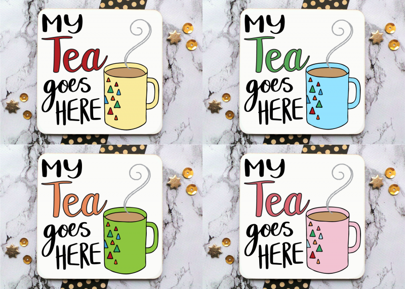 Tea Mug Coaster Gifting Moon