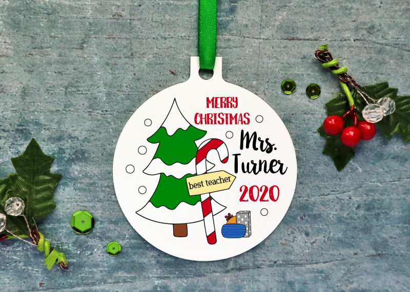 Teacher Christmas Ornament 2020 Gifting Moon