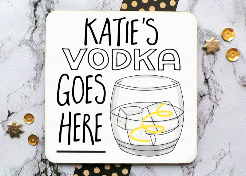 Vodka With A Twist Coaster Gifting Moon