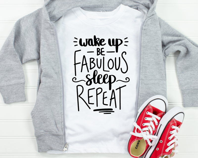 Wake Up Be Fabulous Kids White T Shirt 2 Gifting Moon