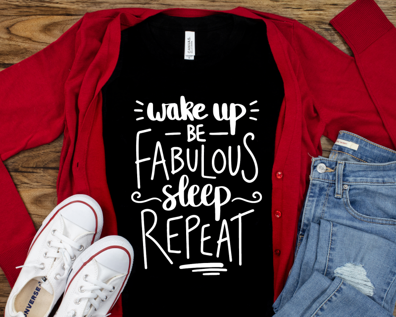 Wake Up Be Fabulous T-Shirt Black Adult Gifting Moon