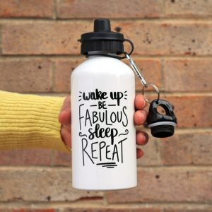 Wake Up Be Fabulous Water Bottle Gifting Moon