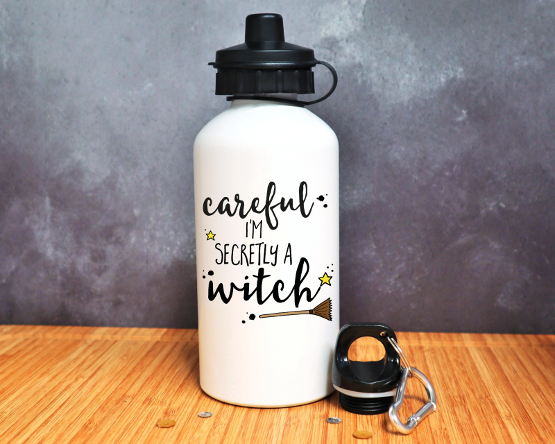 Careful I'm Secretly A Witch Water Bottle Gifting Moon