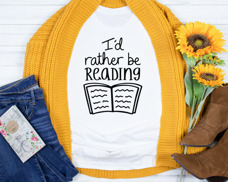 I'd Rather Be Reading T Shirt Gifting Moon